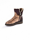 Bogner - Calfskin nappa ankle boots in a metallic effect.