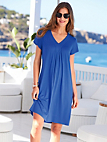 Charmor - Leisure dress, V-neck and cap sleeves