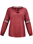 FRAPP - Cotton tunic with embroidered inserts