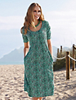 Green Cotton - Dress with 1/2-length sleeves