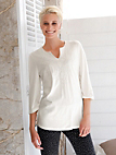 Green Cotton - Top with 3/4-length sleeves