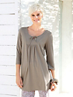 Green Cotton - Tunic with 3/4-length sleeves - 100% cotton