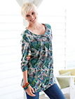 Green Cotton - Tunic with 3/4-length sleeves
