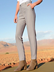 Laurèl - Ankle-length trousers with pre-pressed creases