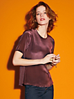 Looxent - Blouse top with 1/2-length sleeves