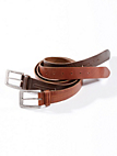 Peter Hahn - Grainy cowskin leather belt