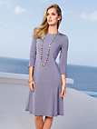 Peter Hahn - Jersey dress with 3/4-length sleeves