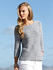 Peter Hahn - Round neck jumper with 3/4-length sleeves