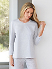 Peter Hahn - V neck top in 100% cotton