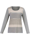 Samoon - Top with glitter stripes