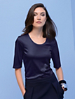 Strenesse - Round neck top with 1/2-length sleeves