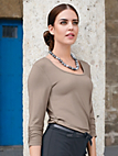 Uta Raasch - Round neck top with 3/4-length sleeves