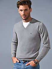 Lacoste - V neck pullover in 100% cotton