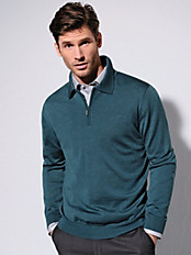 Peter Hahn - Polo jumper in 100% new milled wool
