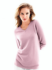 cashmere - V neck jumper in pure cashmere