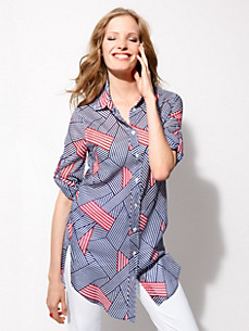 0039 Italy - Blouse with long sleeves for folding up