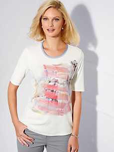Basler - Round neck top with 1/2-sleeves