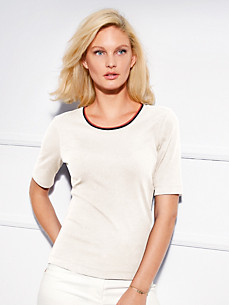 Basler - Round neck top with long 1/2-length sleeves