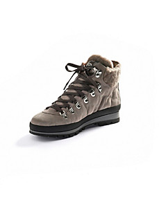 Bogner - Calfskin suede lace-up ankle boots