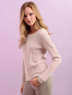cashmere gold - Round neck jumper in 100% cashmere