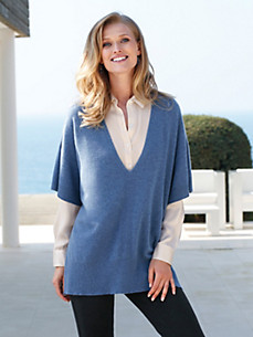 cashmere - V-neck jumper in 100% cashmere