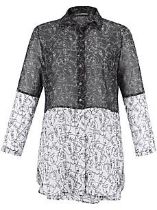 Doris Streich - Long blouse with patchwork effect