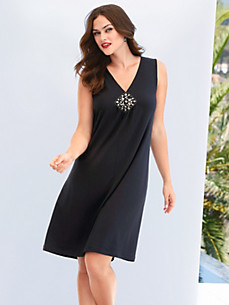 Emilia Lay - Jersey dress with wide straps