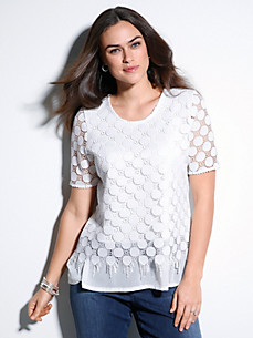 Emilia Lay - Round neck top with 1/2-length sleeves