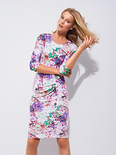Escada - Jersey dress with floral print