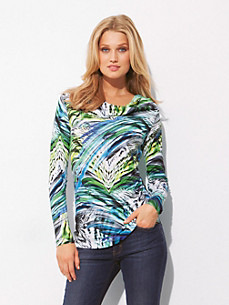 Escada Sport - Top with long sleeves and waterfall neckline