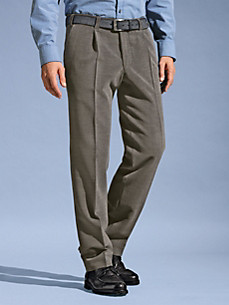 Eurex by Brax - Waist pleat wool corduroy trousers