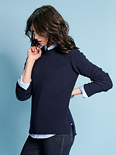 GANT - Round neck jumper in 100% wool