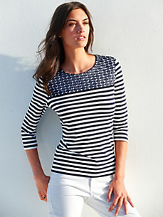 Gerry Weber - Round neck top with 3/4-length sleeves