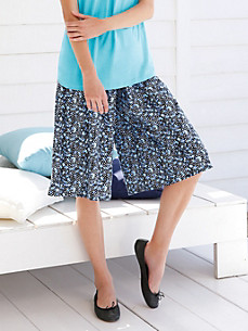 Green Cotton - Culottes with a comfortable, elasticated waist