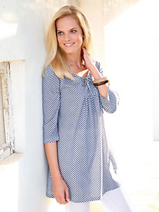 Green Cotton - Jersey tunic with 3/4-length sleeves