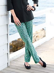 Green Cotton - Slip-on trousers in 100% cotton