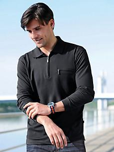 HAJO - Sporty polo shirt with long sleeves