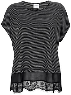 JUNAROSE - Round neck top with 1/2-length sleeves