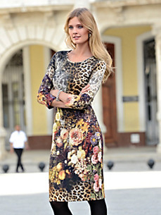 Looxent - Jersey dress with 3/4-length sleeves.