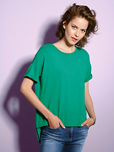 Looxent - Round neck top with 1/2-length sleeves