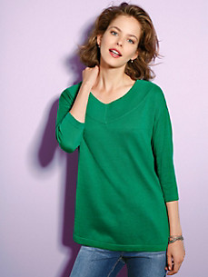 Looxent - V neck pullover with 3/4-length sleeves