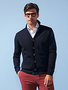 MAERZ - Cardigan with a revers collar