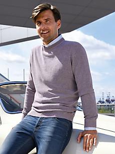 MAERZ - Round neck pullover in 100% cotton
