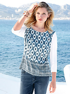 Peter Hahn - Blouse top with 3/4-length sleeves