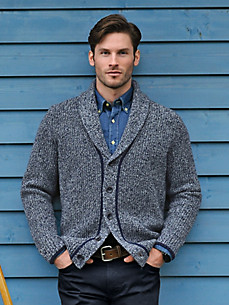 Peter Hahn - Cardigan with a shawl collar