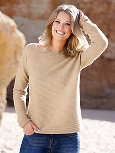 Peter Hahn Cashmere Nature - Pullover in 100% cashmere with a boat neckline