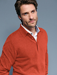 Peter Hahn Cashmere - Polo jumper in 100% cashmere - Design PAUL
