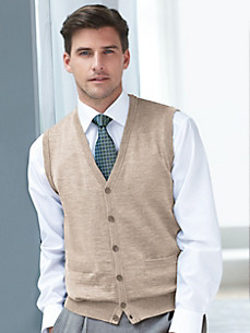 Peter Hahn - High-quality knitted waistcoat in pure new wool