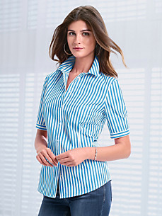 Peter Hahn - Striped blouse with short sleeves