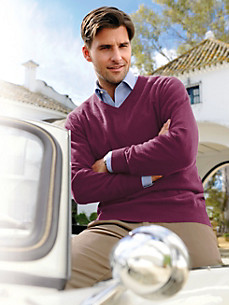 Peter Hahn - V neck jumper in 100% cashmere